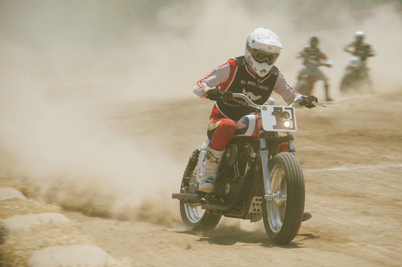 Course de dirt track El Rollo pendant l'évenement Wheels and Waves 2016 à l'hipodrome de san sebastian en espagne